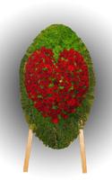 Венок из живых цветов №79
