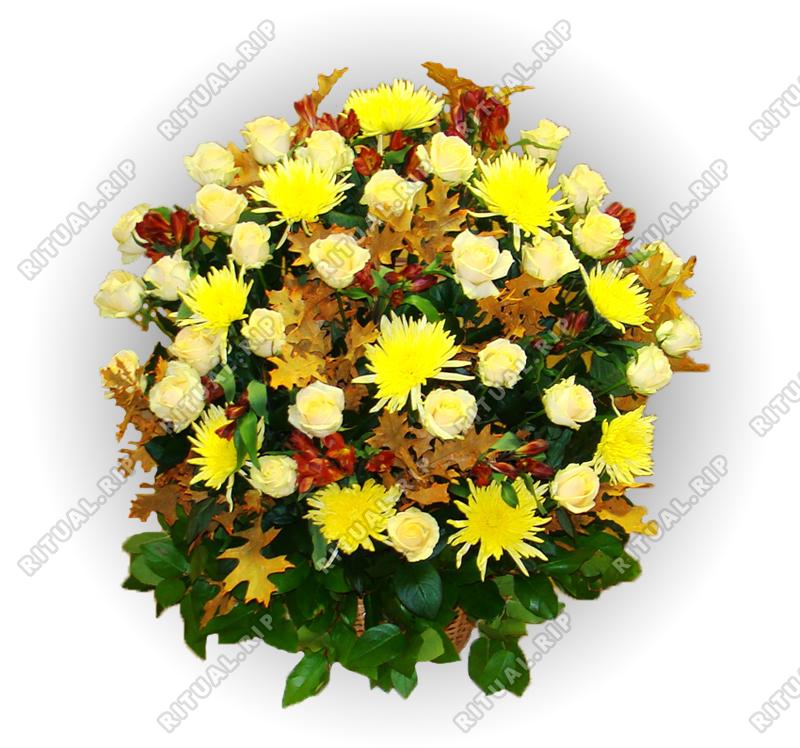Корзина из живых цветов №84