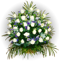 Корзина из живых цветов №85