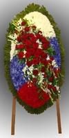 Венок из живых цветов №85