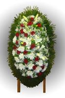 Венок из живых цветов №87