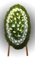Венок из живых цветов №94