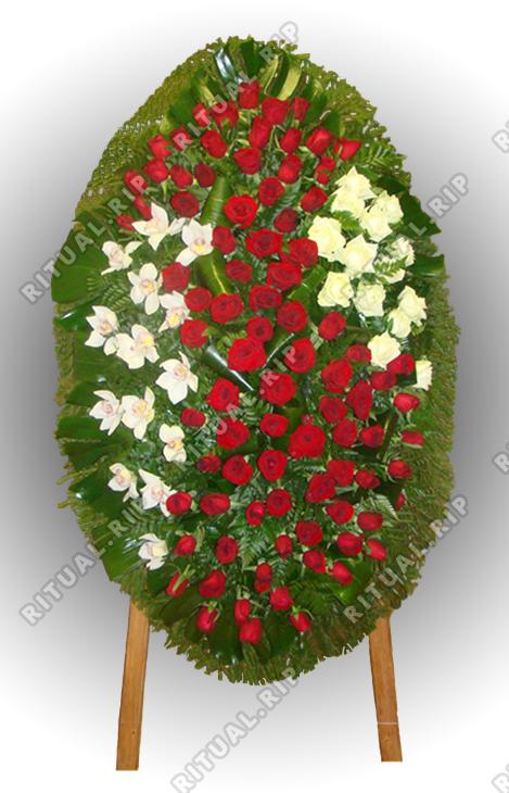 Венок из живых цветов №95