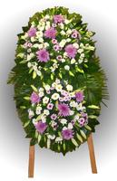Венок из живых цветов №98