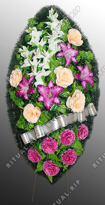 Похоронный венок из искусственных цветов №10