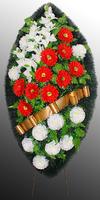 Похоронный венок из искусственных цветов №11