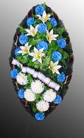 Похоронный венок из искусственных цветов №13