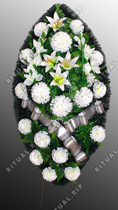 Похоронный венок из искусственных цветов №14