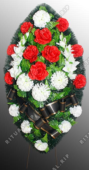 Похоронный венок из искусственных цветов №15