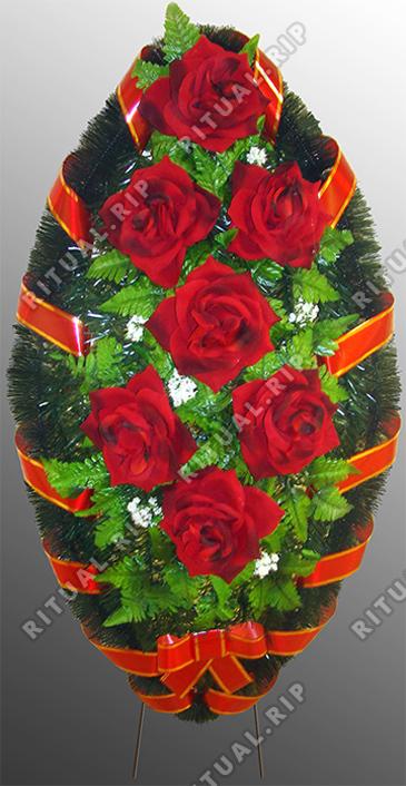 Похоронный венок из искусственных цветов №16