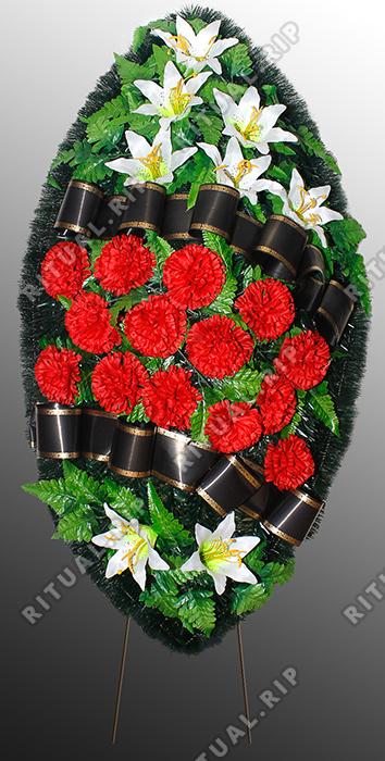 Похоронный венок из искусственных цветов №1