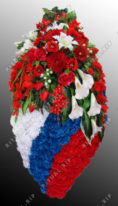 Венок из искусственных цветов №28