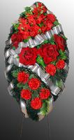 Похоронный венок из искусственных цветов №2