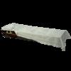 """Ритуальный комплект """"Апостол"""" наволочка, покрывало и подушка серебром в гроб"""