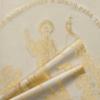 """Ритуальный комплект """"Апостол"""" наволочка, покрывало и подушка золотом в гроб"""