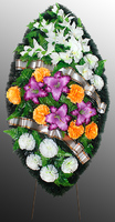 Похоронный венок из искусственных цветов №3