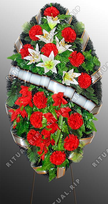 Похоронный венок из искусственных цветов №4