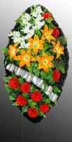 Похоронный венок из искусственных цветов №5