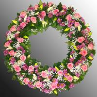 Венок из живых цветов №55