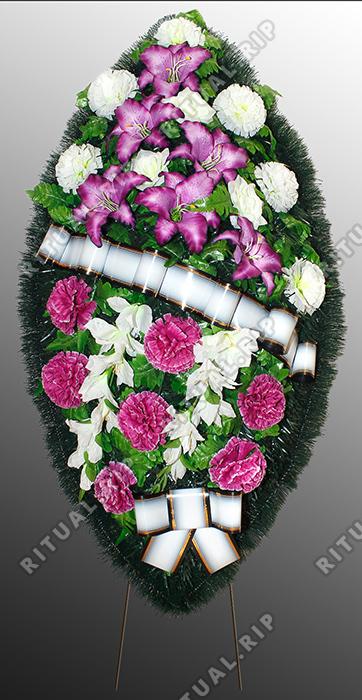 Похоронный венок из искусственных цветов №6