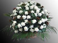 Корзина из живых цветов №65