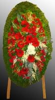 Венок из живых цветов №66