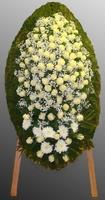 Венок из живых цветов №68