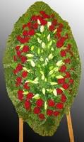 Венок из живых цветов №69