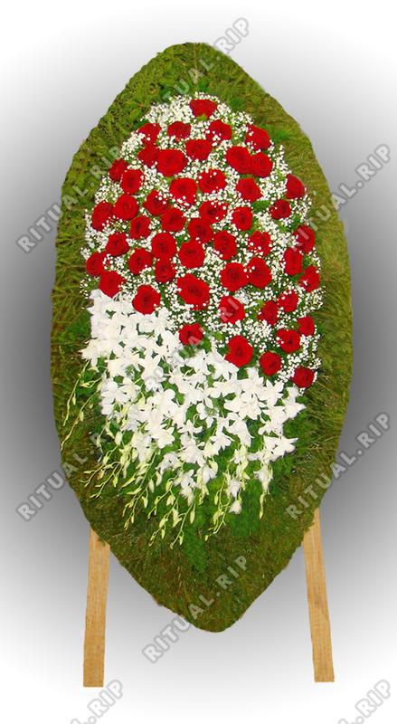 Венок из живых цветов №71