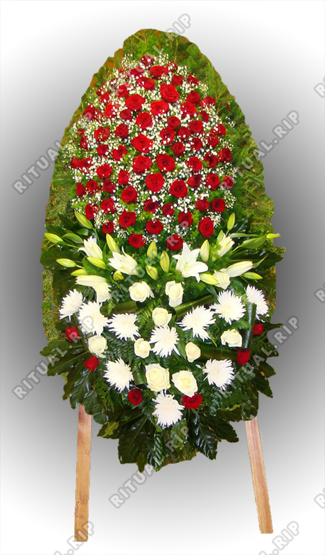 Венок из живых цветов №76