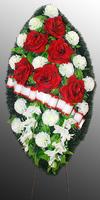 Похоронный венок из искусственных цветов №7