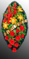 Похоронный венок из искусственных цветов №8