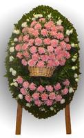 Венок из живых цветов №96