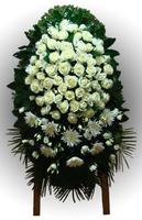 Венок из живых цветов №97