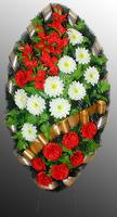 Похоронный венок из искусственных цветов №9