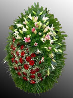 Венок из живых цветов №16