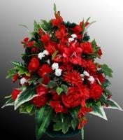 Траурная корзина из искусственных цветов №2