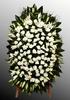 Венок из живых цветов №21