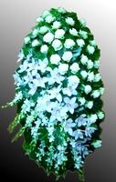 Венок из живых цветов №23