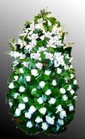 Венок из живых цветов №24