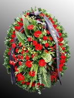 Венок из живых цветов №2