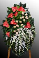 Венок из живых цветов №31