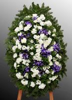 Венок из живых цветов №32