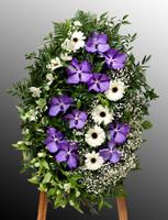 Венок из живых цветов №34