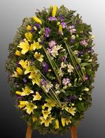 Венок из живых цветов №35
