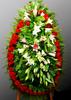 Венок из живых цветов №48