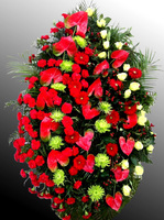 Венок из живых цветов №4