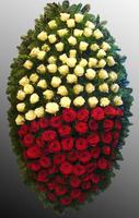 Венок из живых цветов №50