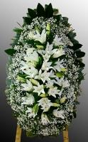 Венок из живых цветов №52