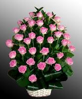Корзины из живых цветов №60